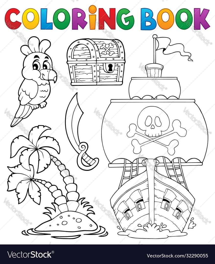 Coloring book pirate thematics 2
