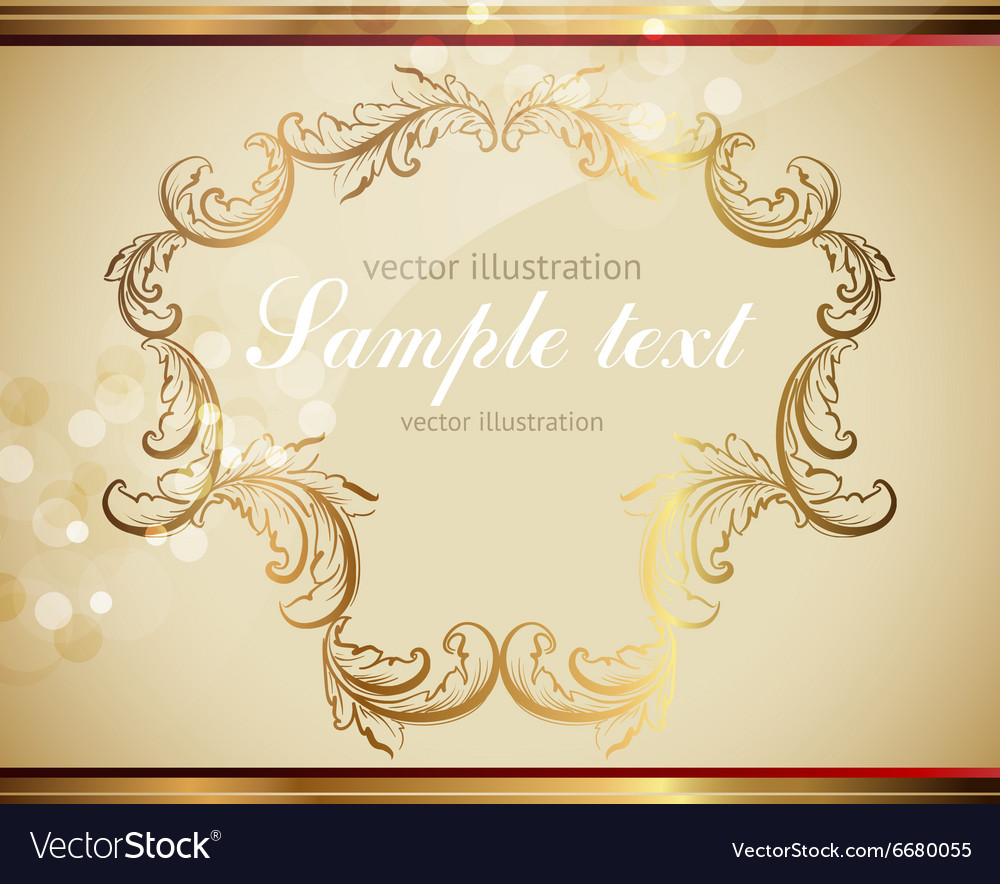 Golden Leaf Frame Royalty Free Vector Image - VectorStock