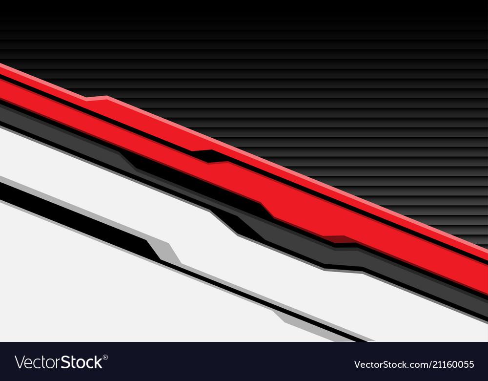 Red white cyber futuristic with dark gray shutter