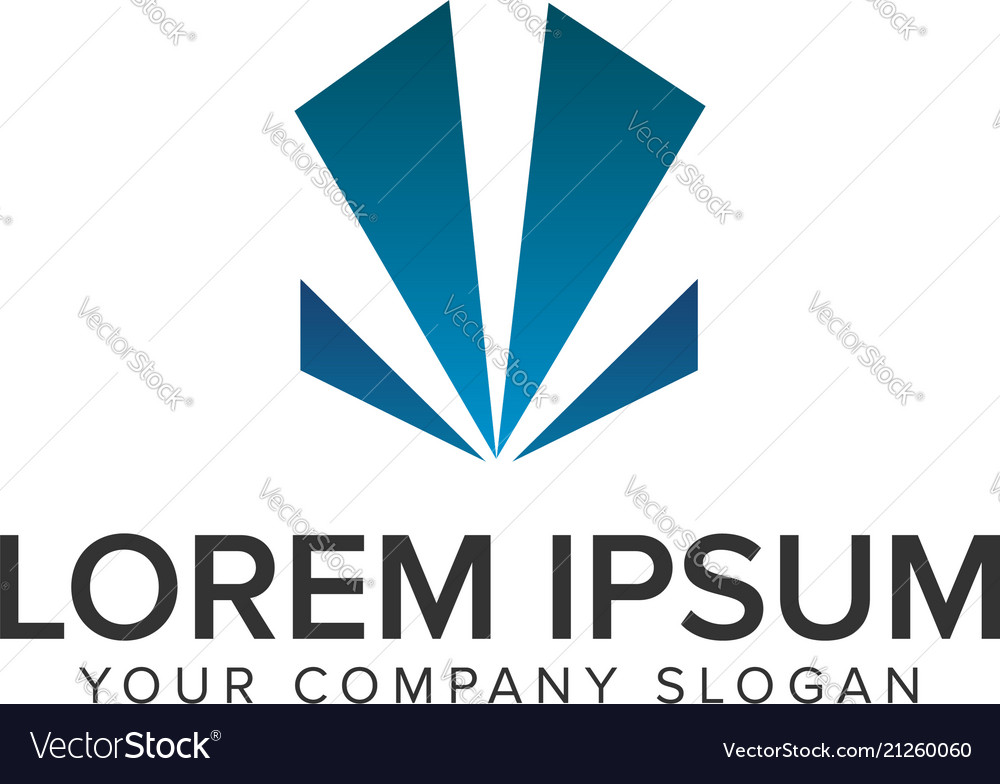 Abstract geometry business logo