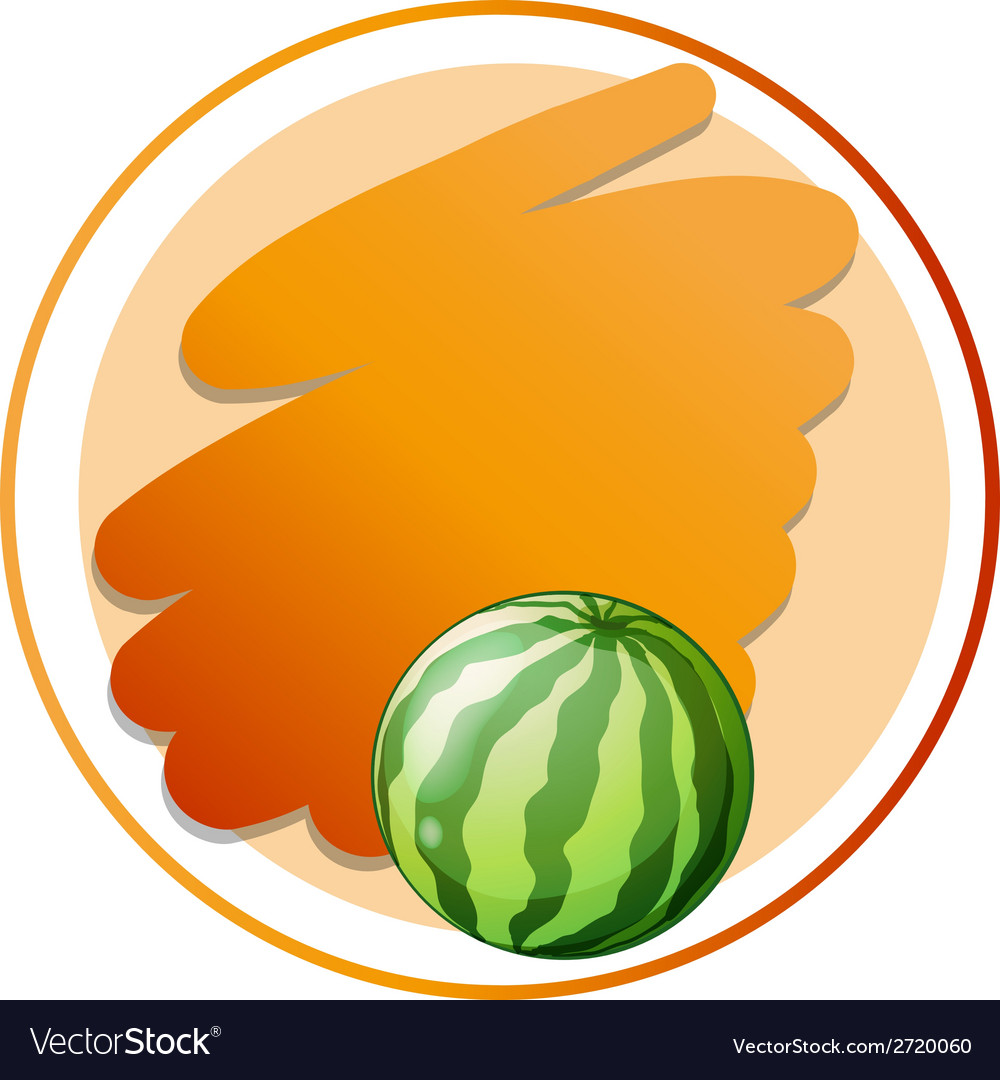 an empty round template with a watermelon vector image