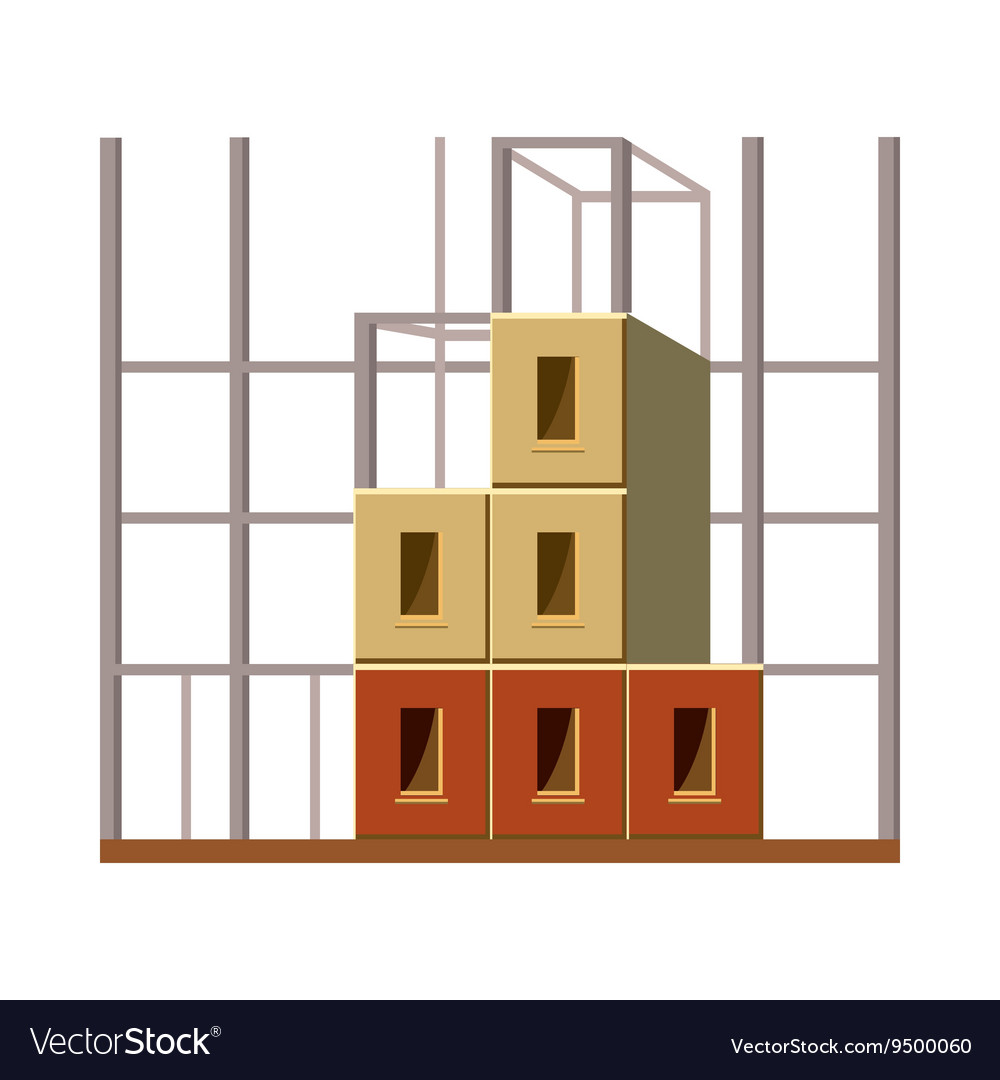 Building construction icon cartoon style