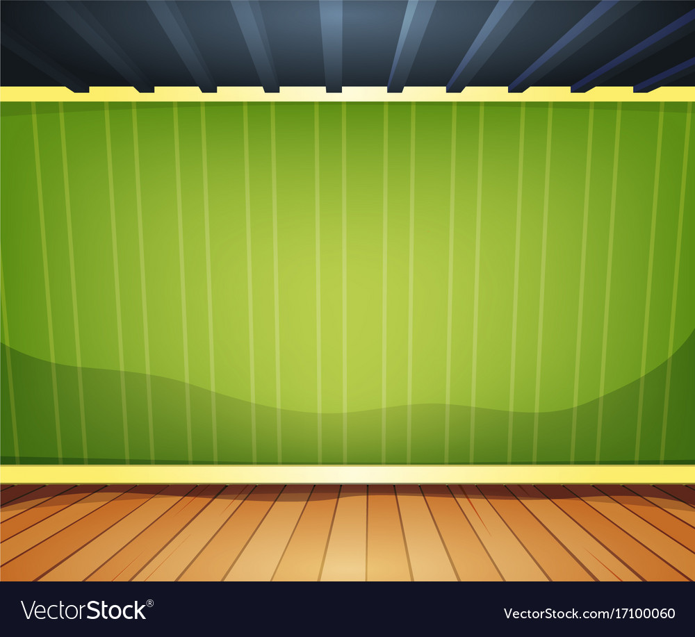 Empty Room With Striped Wallpaper Vector Image