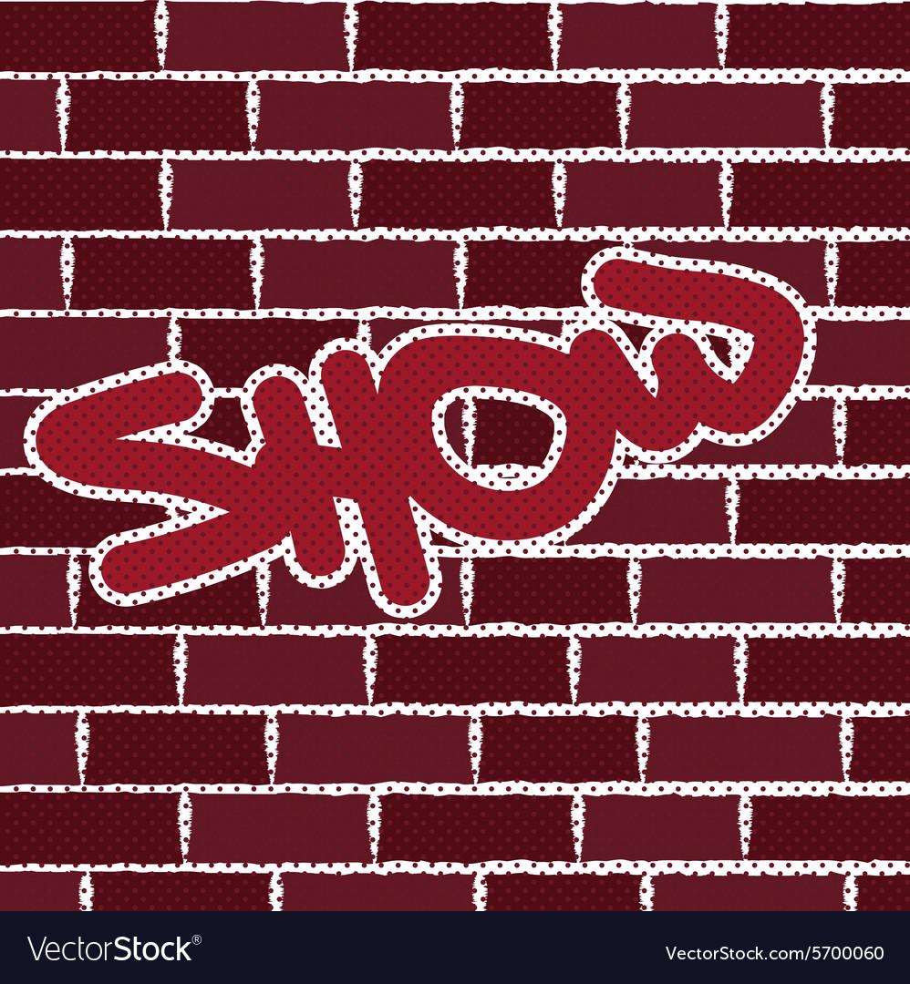 Graffiti On Brick Wall Background