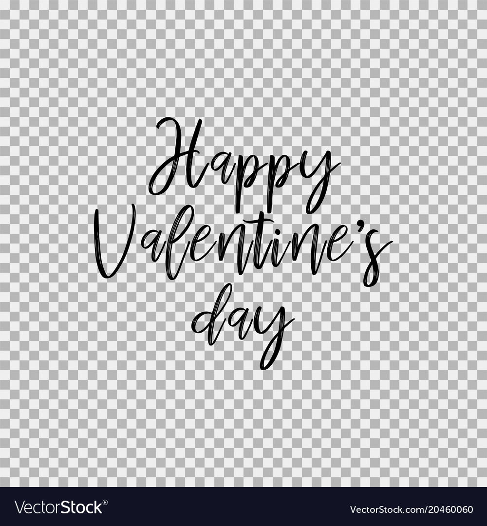 Happy Valentines Day Transparent Background Vector Image