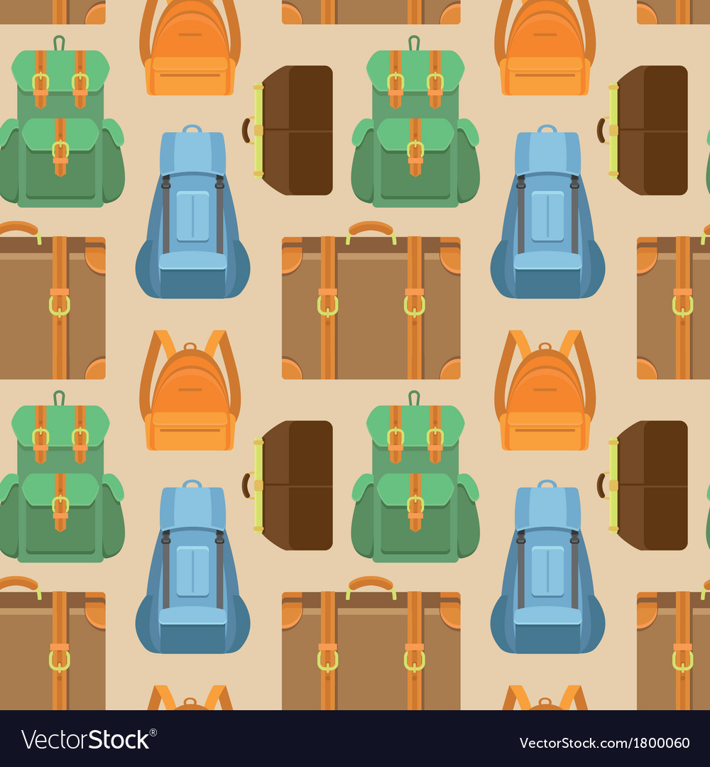 Seamless pattern in flat style - travel