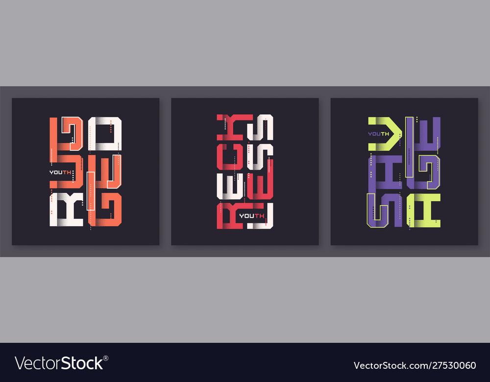 Set graphic modern t-shirt designs