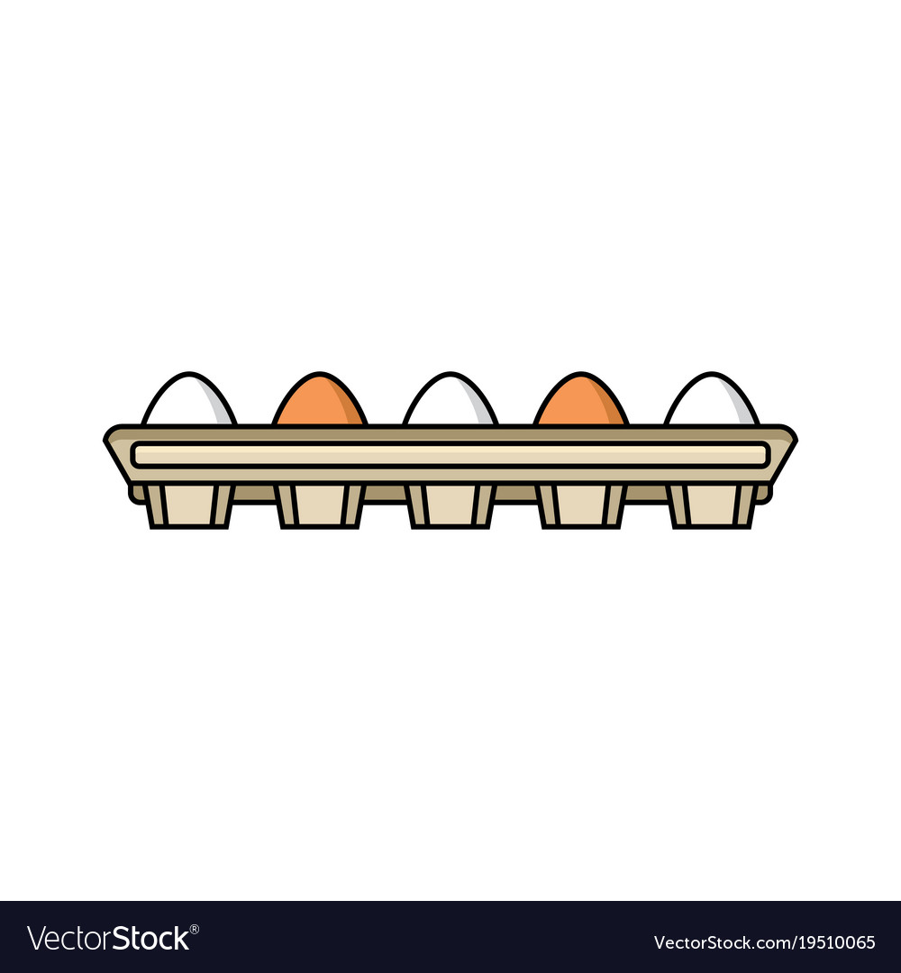 Chicken brown eggs in hay nest isolated vector image