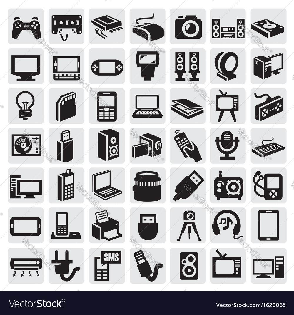 Electronic Devices Icons Royalty Free Vector Image