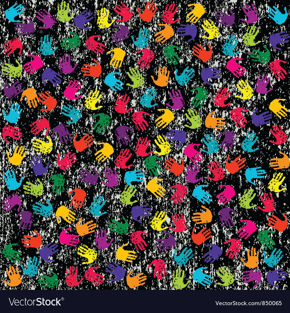 Hand Print Background vector image