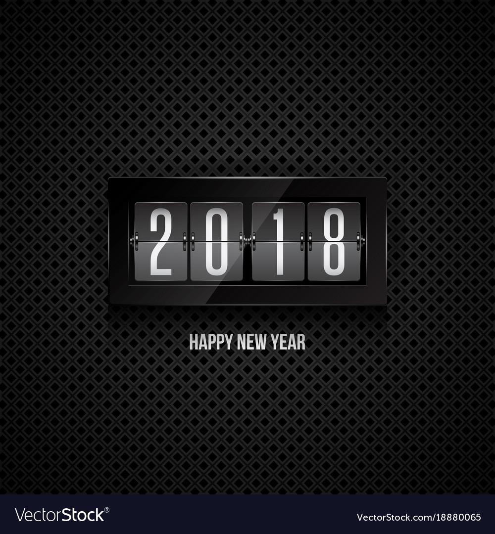 Happy new year 2018 flip clock