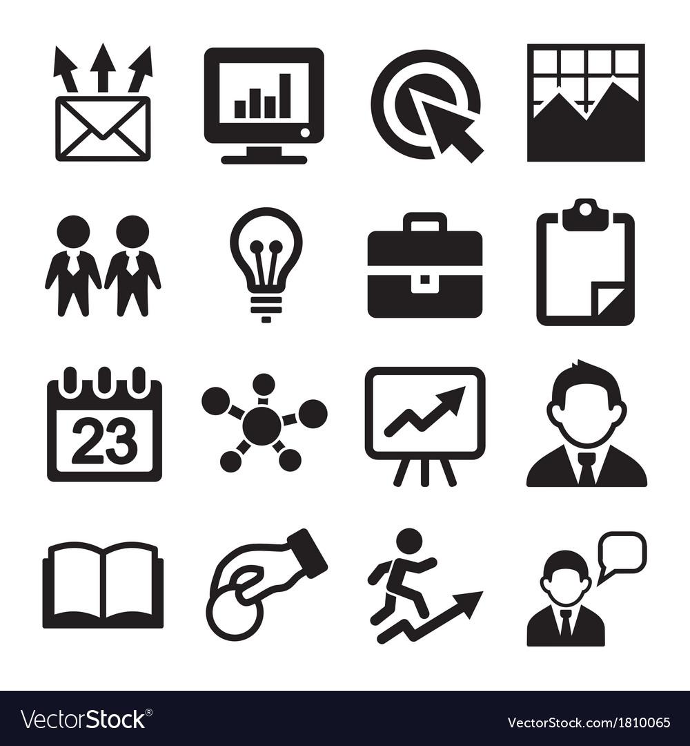 Marketing SEO and Development icons set