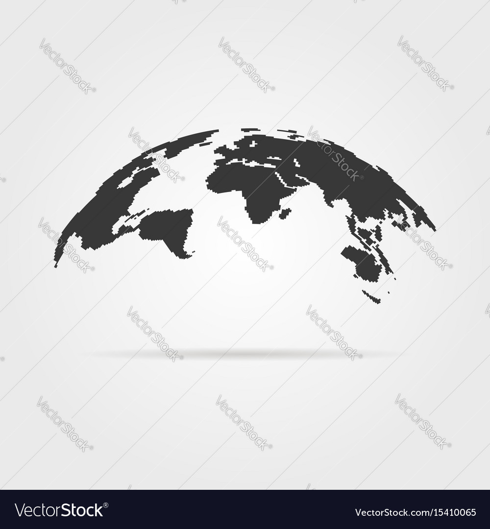Simple world map icon with shadow royalty free vector image simple world map icon with shadow vector image gumiabroncs Choice Image