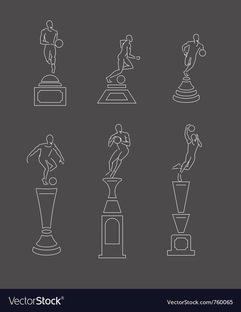 Sport trophy vector image