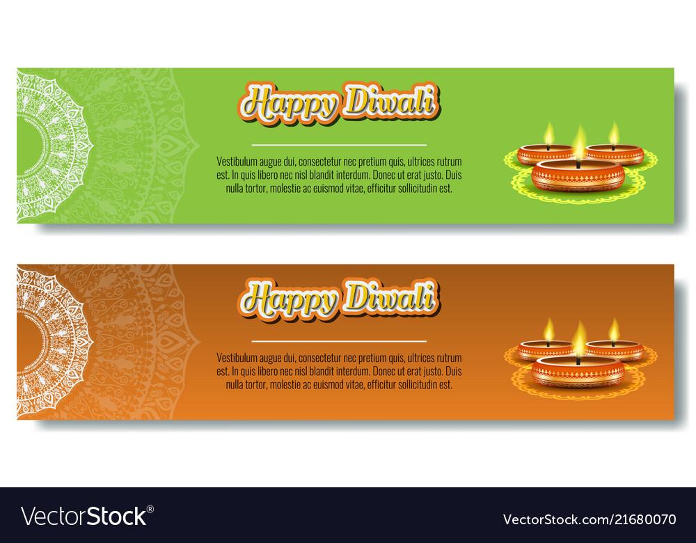 Burning diya for diwali holiday