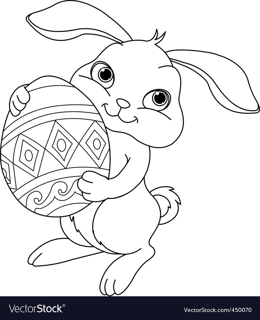 cute easter bunny coloring pictures. cute easter bunny coloring