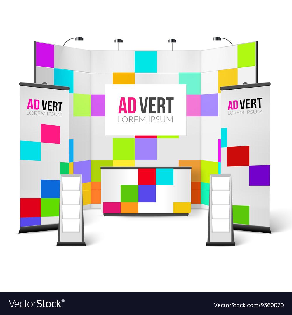 Exhibition Stand Bright Design vector image