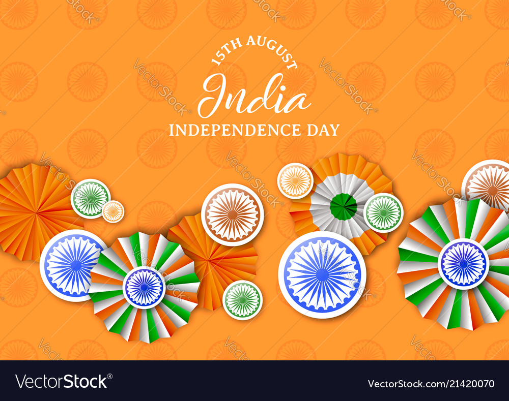India independence day badge decoration card