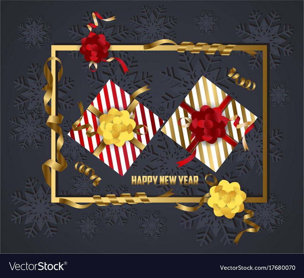 Luxury elegant merry christmas and happy new year vector image