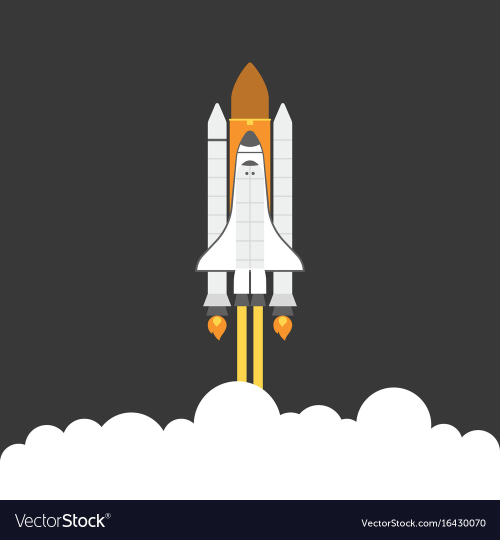 space shuttle royalty free vector image vectorstock rh vectorstock com space shuttle vector logo space shuttle vector logo