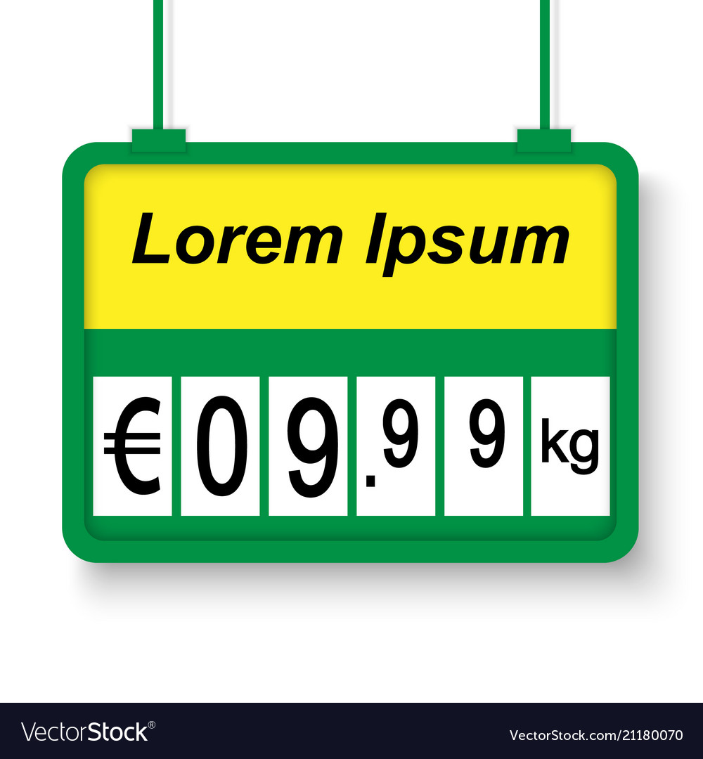 Supermarket price label