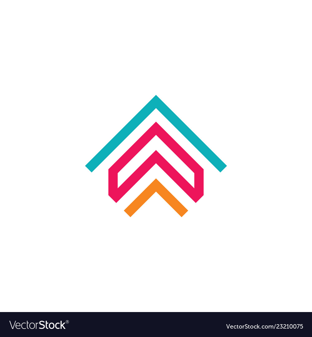 Abstract arrow logo business