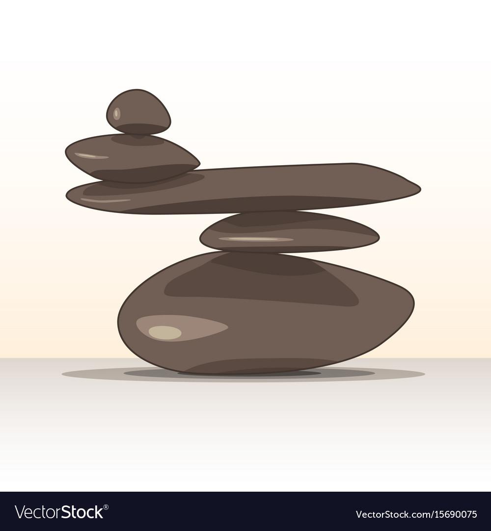 Balanced Zen Stones Royalty Free Vector Image Vectorstock