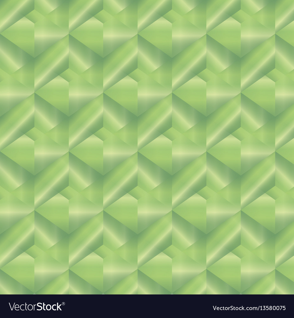 Geometric pattern with green rectangles vector image