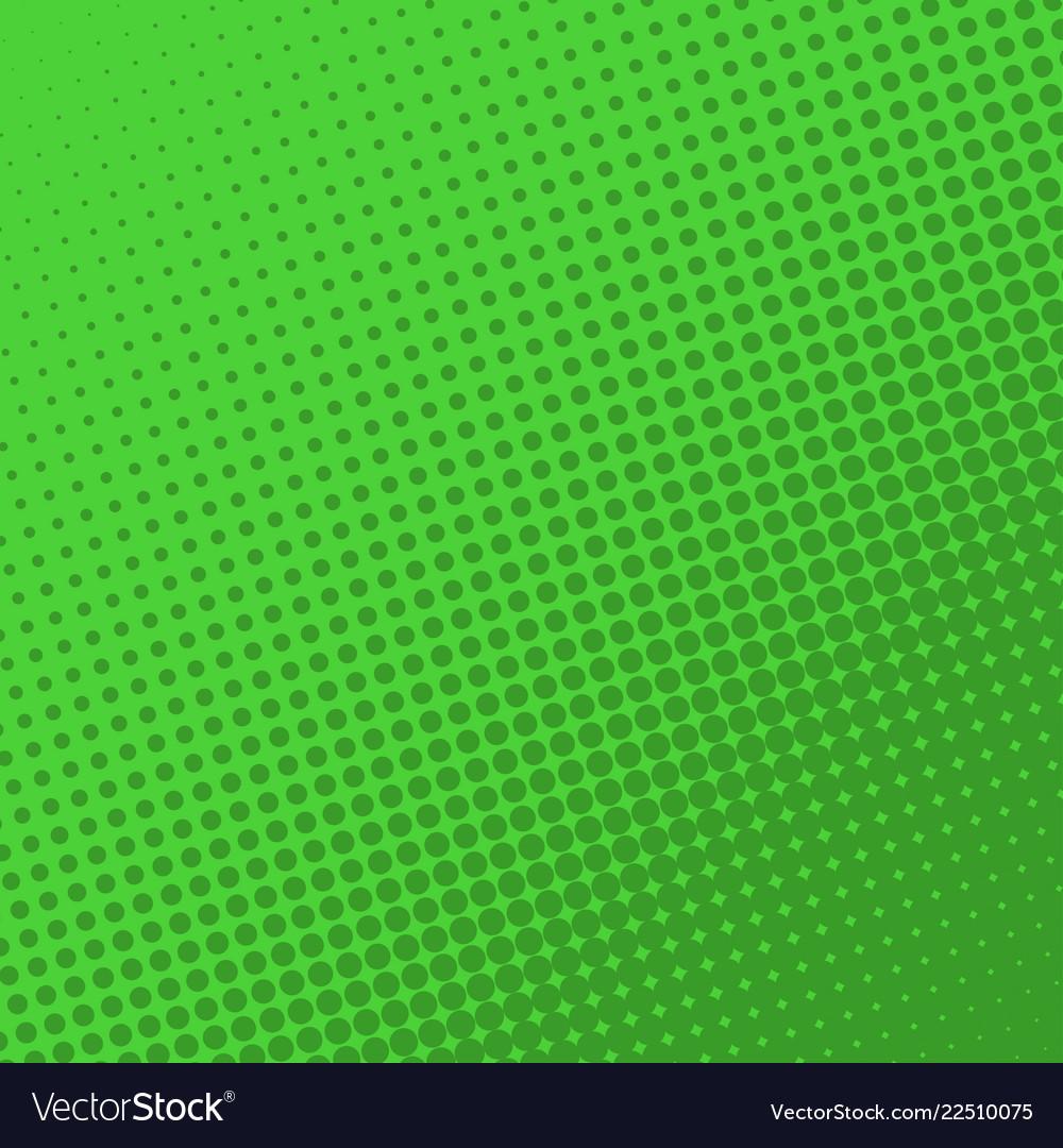 Green retro comic book page background halftone