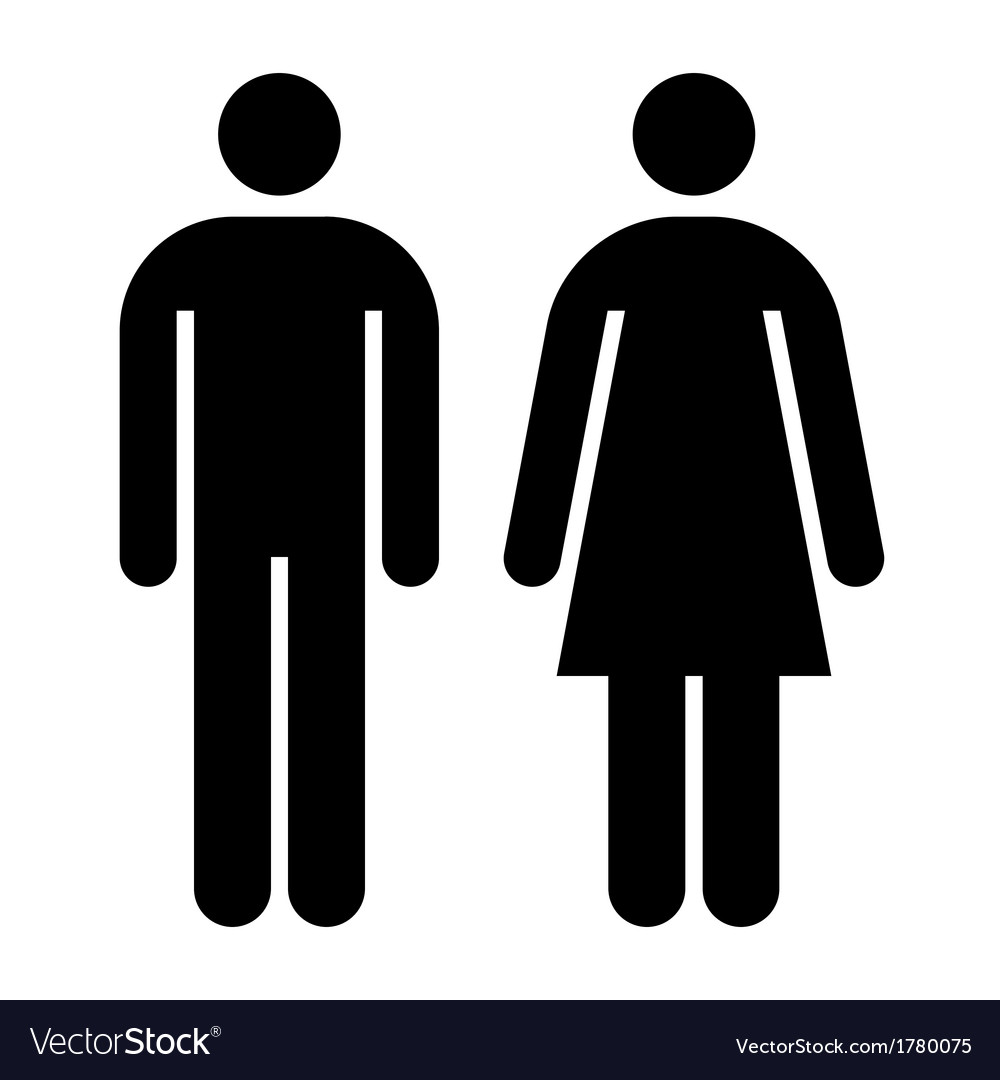 Male female wc sign