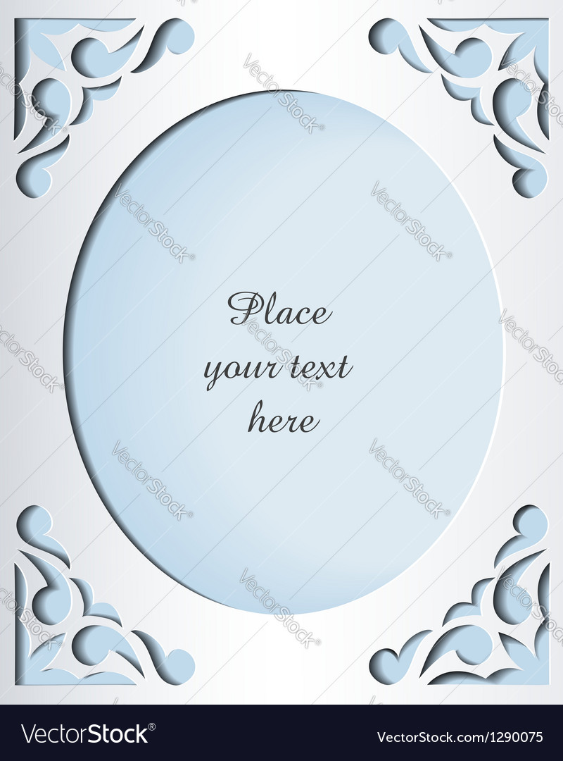 paper cutout card template frame design royalty free vector