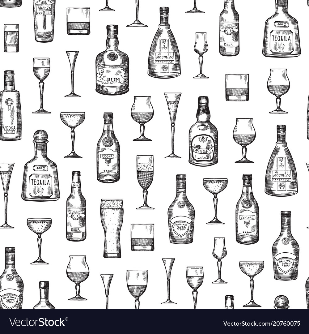 Pattern or background alcohol