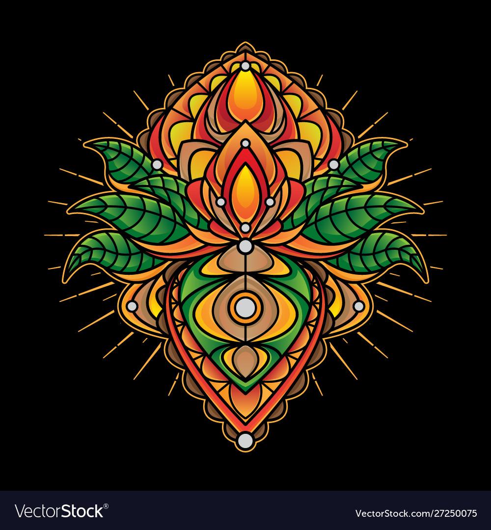 Simple mandala designs tattoo