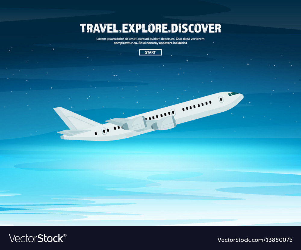 Travel and tourism airplane