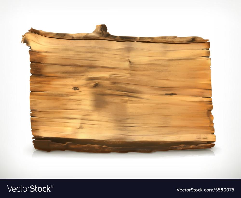 Wooden banner