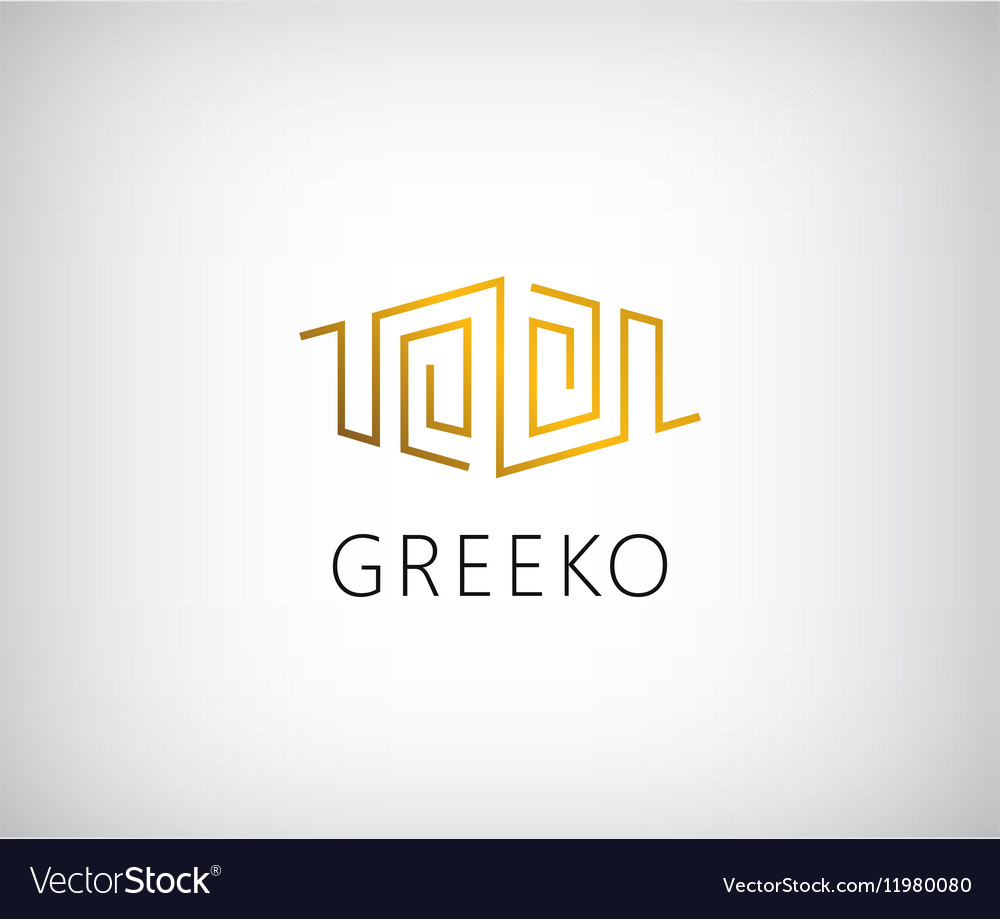 Abstract geometric line logo for premium vector image