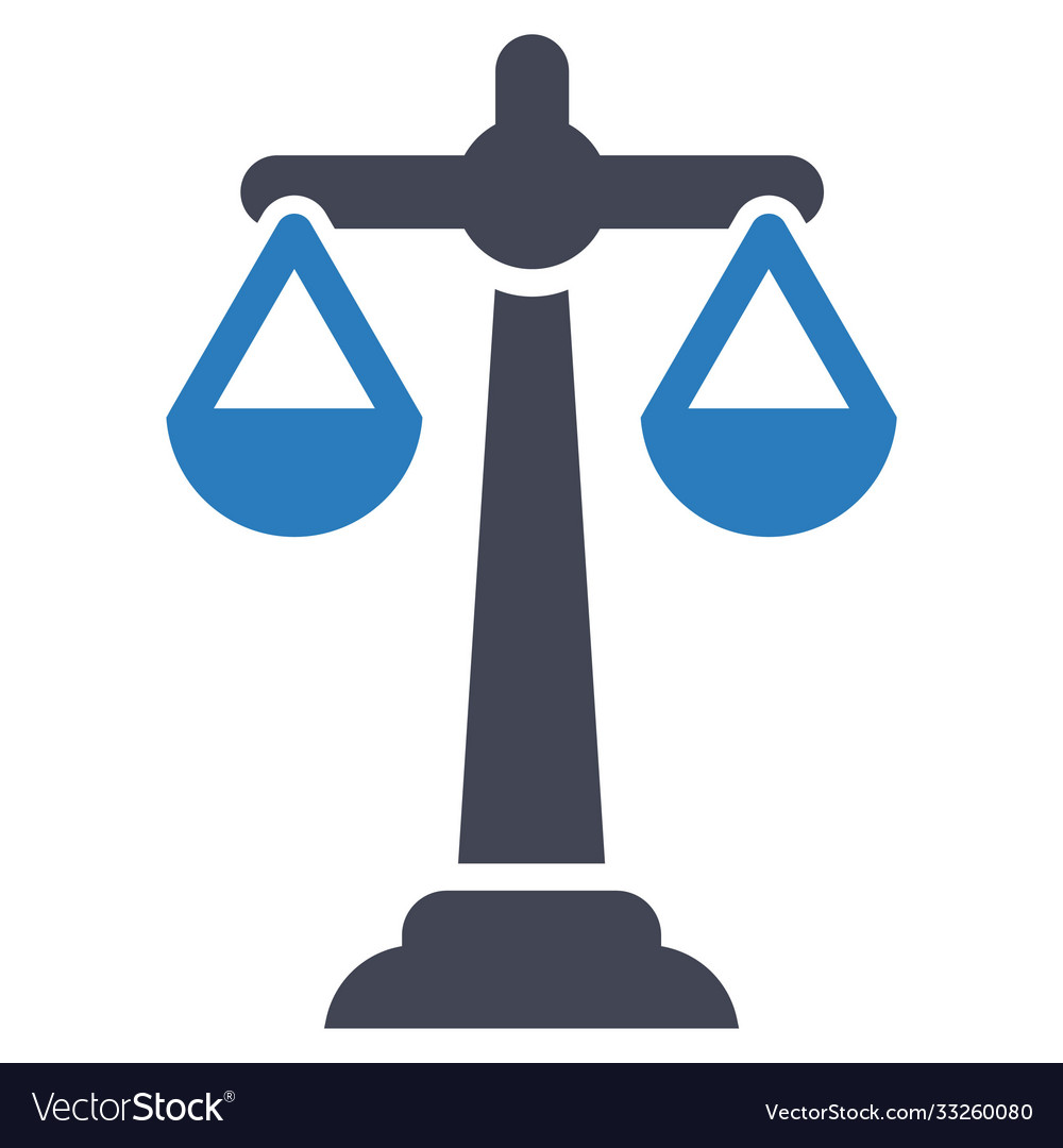 Balance scale business icon