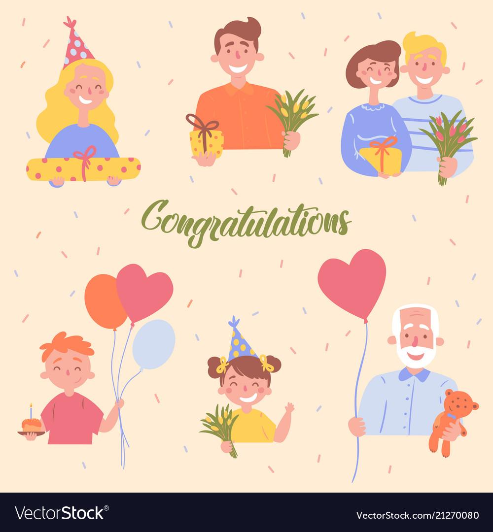 Congratulations birthday celebration poster