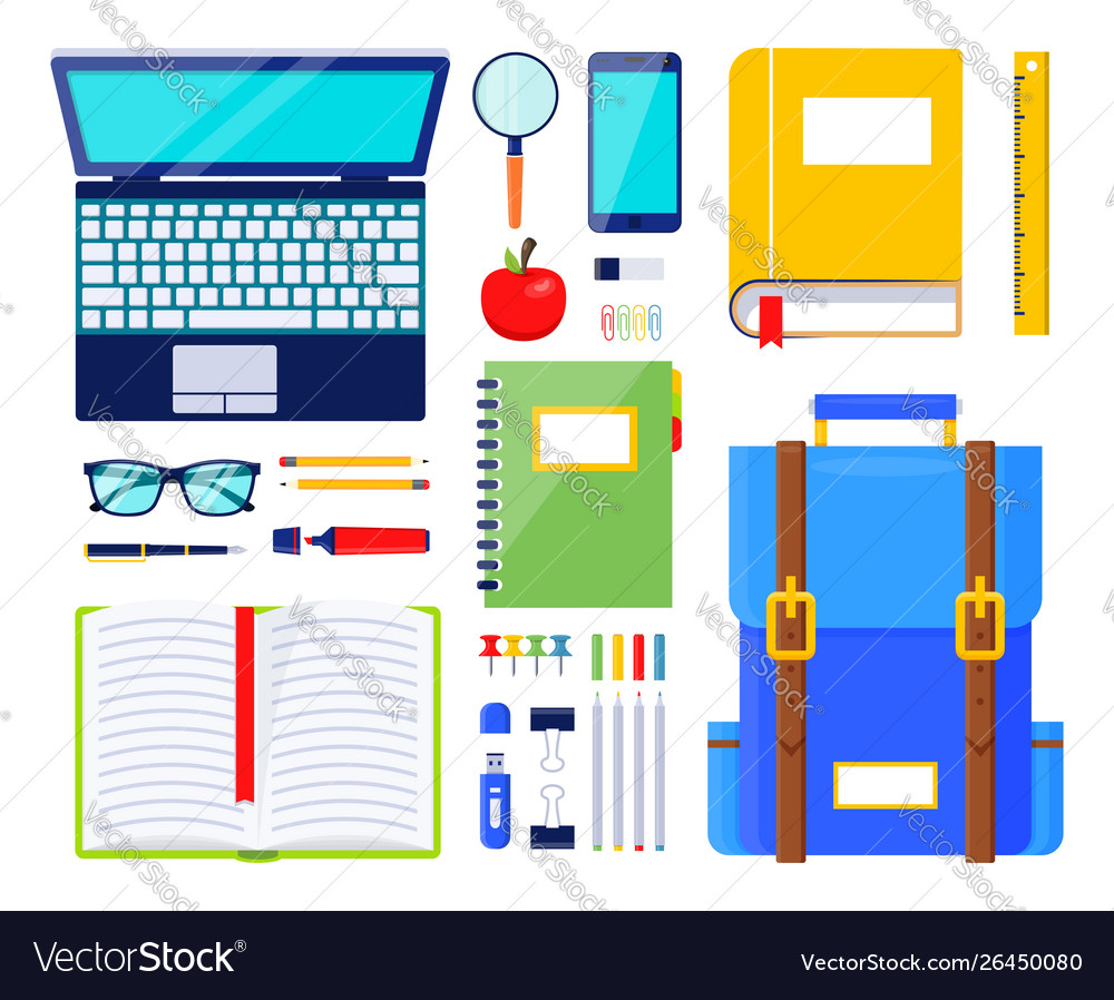 Education elements school stationery