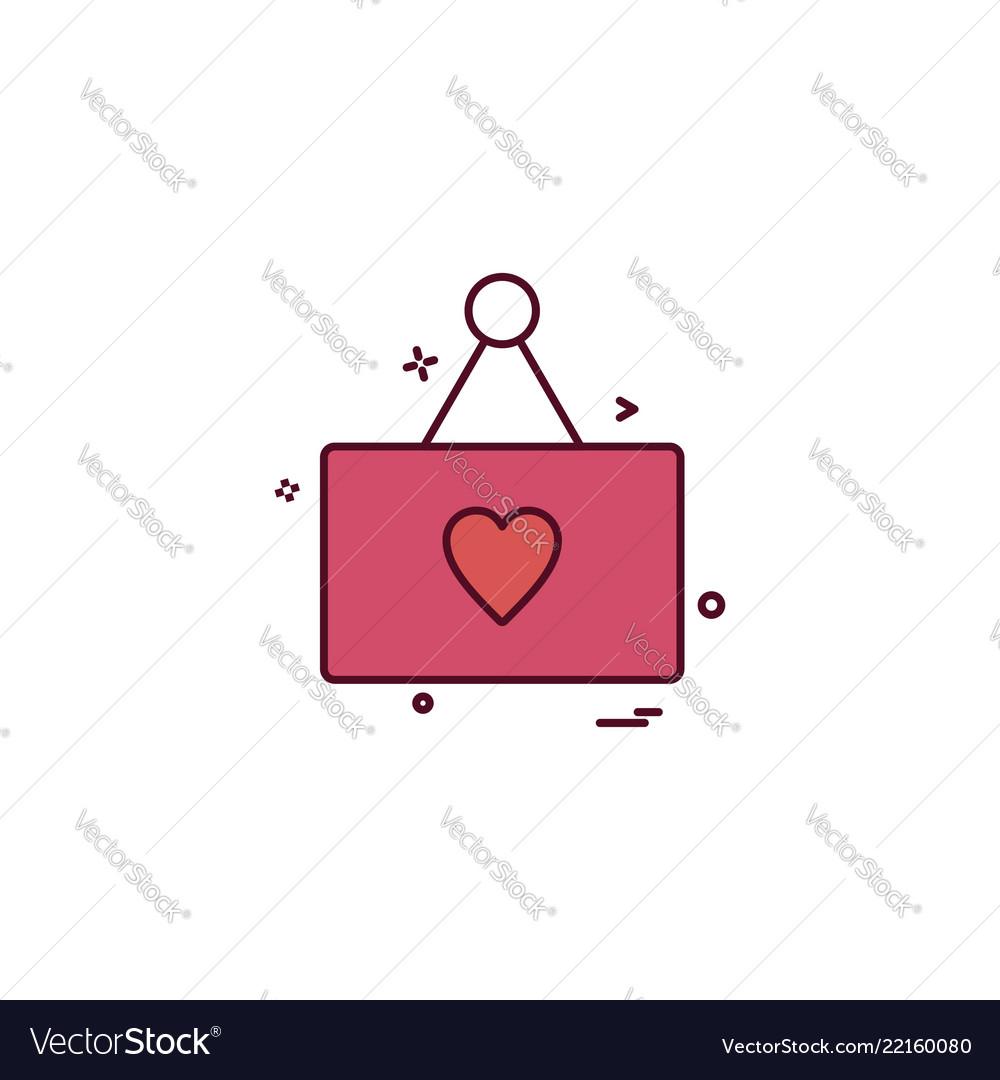 Heart card icon design