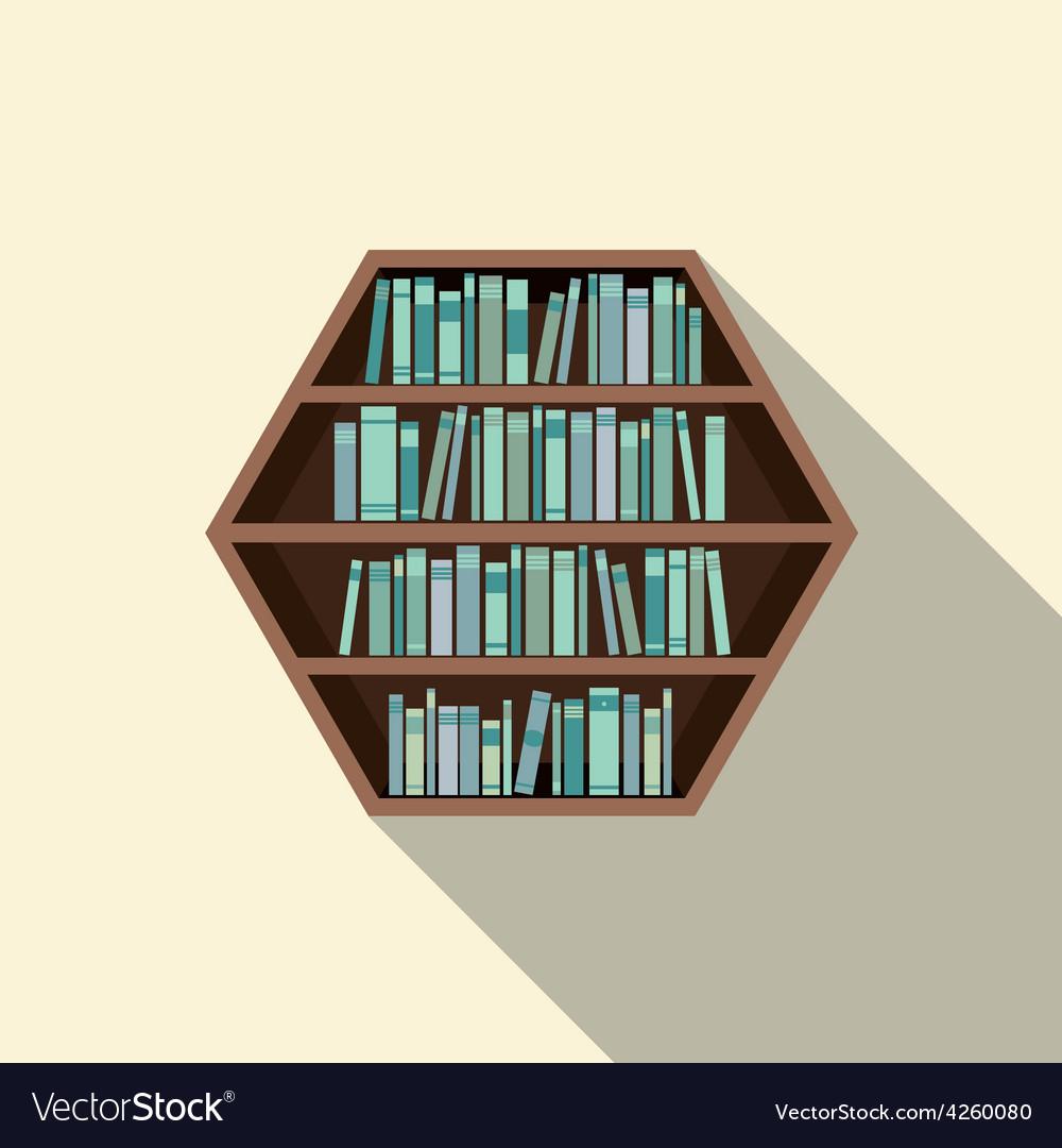 Hexagon Bookshelf On Wall