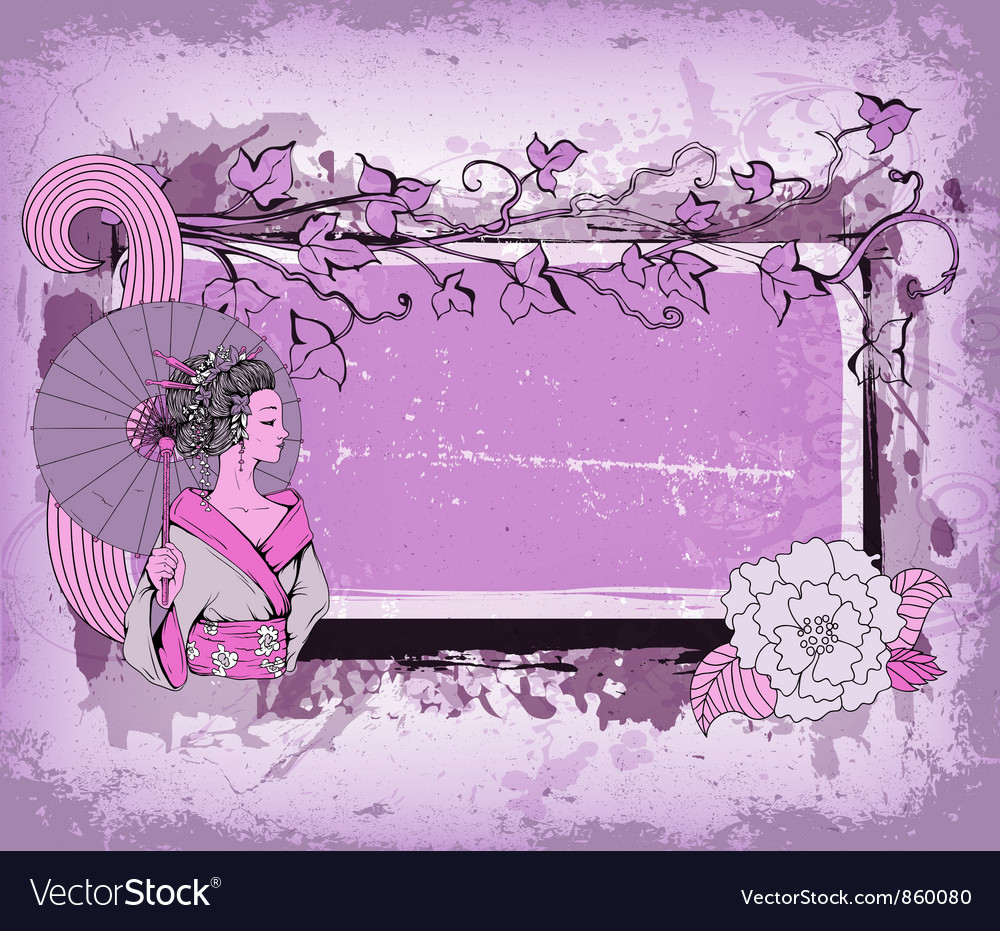 Japanese grunge background vector image
