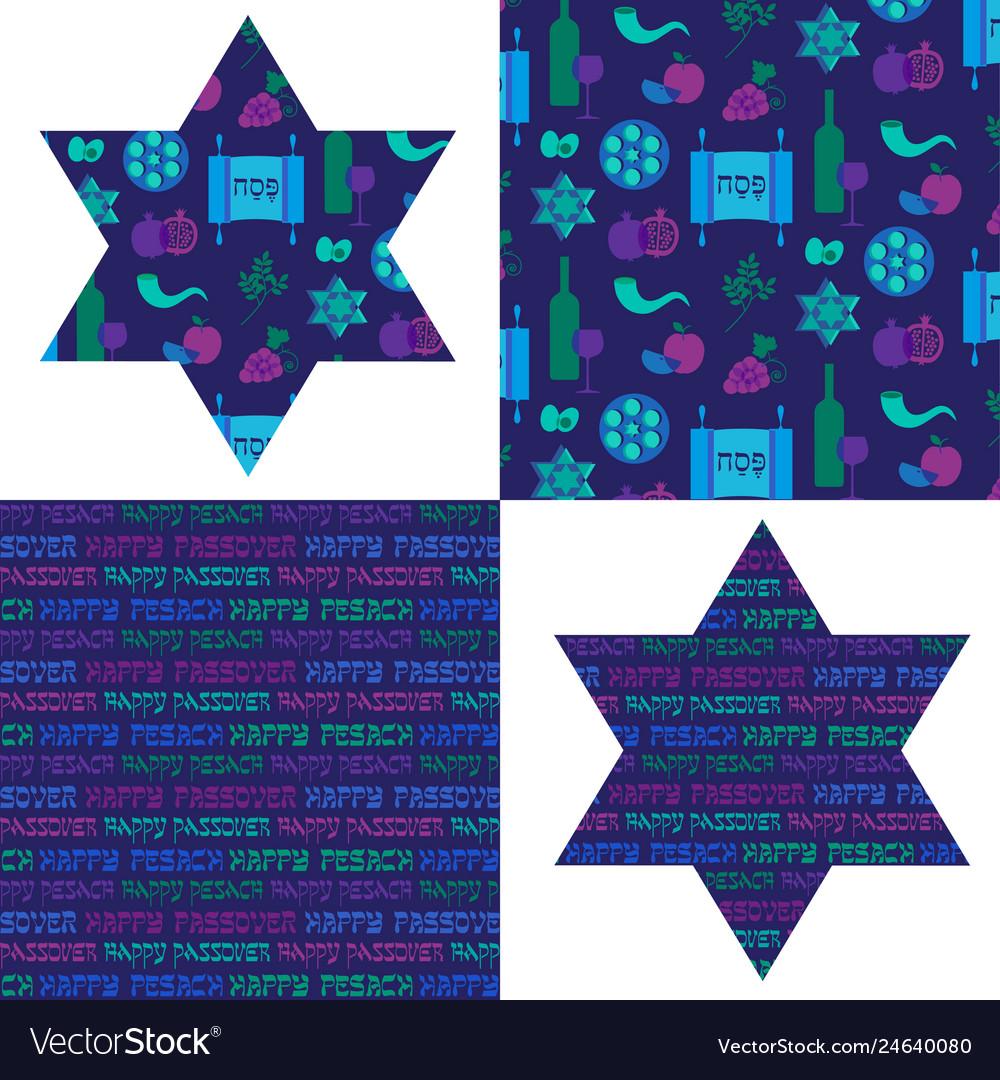 Passover patterns and jewish stars