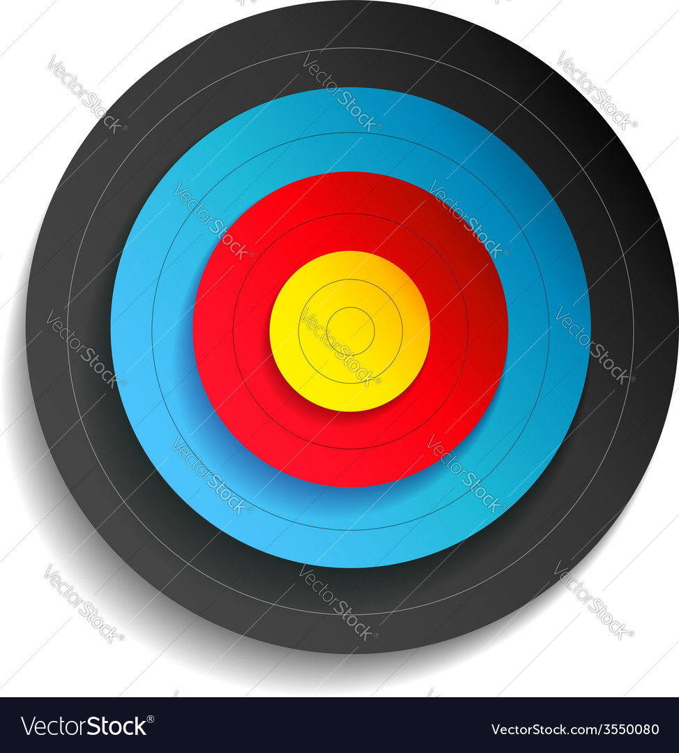 Target color vector image
