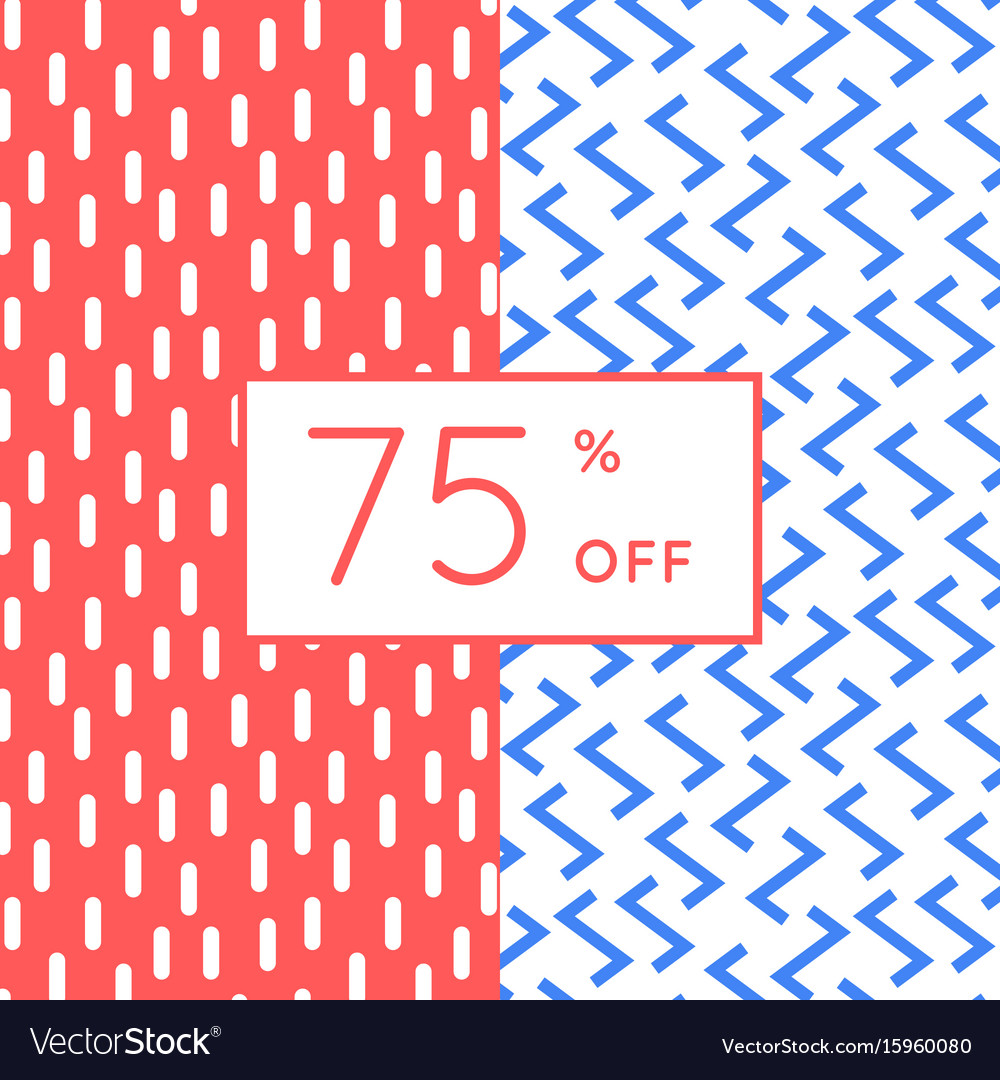 Trendy memphis style discount poster design vector image