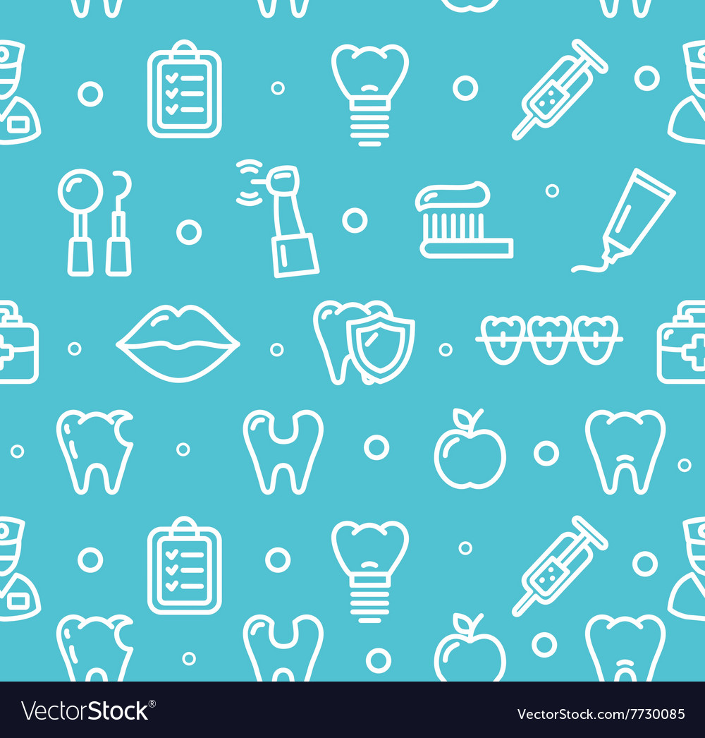 Dental Tooth Clinic Background Pattern Royalty Free Vector