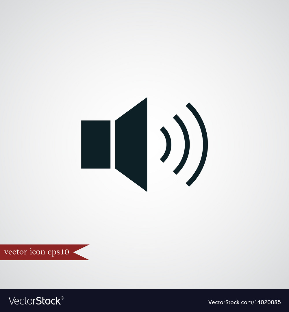 Loudspeaker icon simple