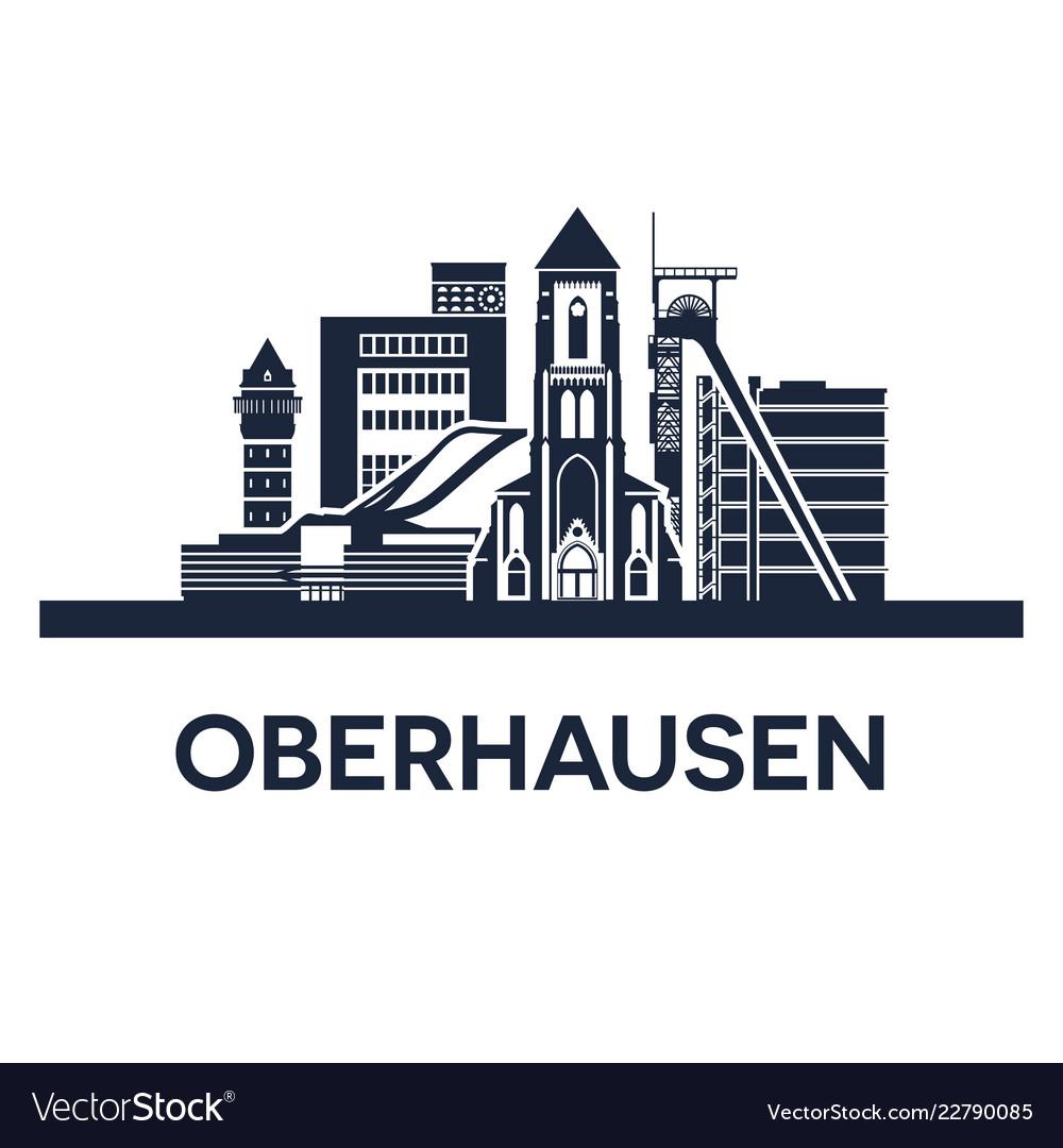 Oberhausen city skyline germany ruhr area solid