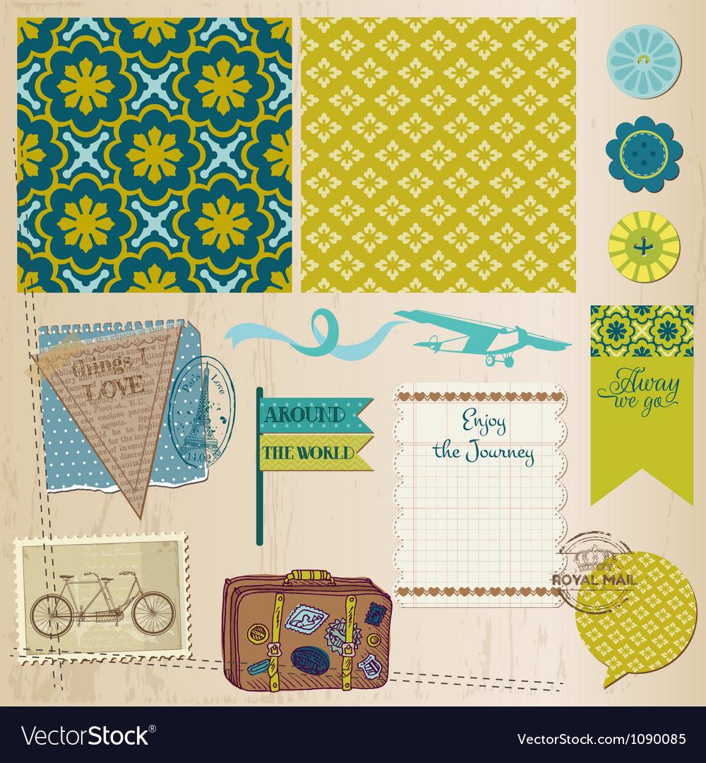 Travel Set of design elements