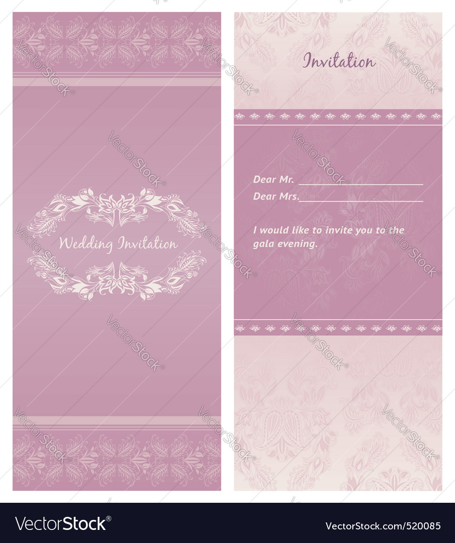 Weddinginvitation background template Royalty Free Vector